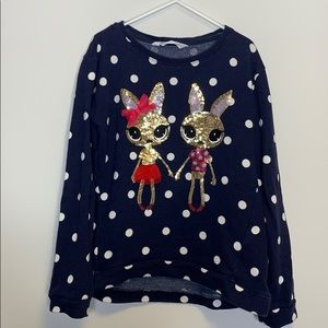 H&M Navy Blue white polka Dot Sweater